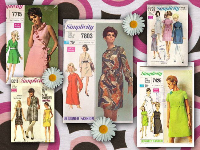 "A search for ""Simplicity patterns 1968"" turned up these groovy dress patterns."