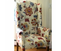 White and Red Flower Chair